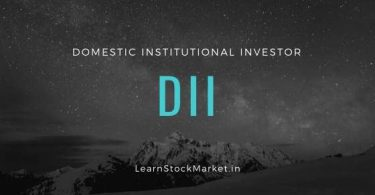 DII Domestic Institutional Investor