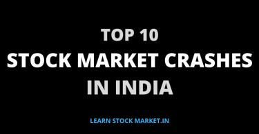 Stock Market Crashes In India