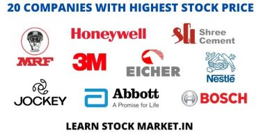20 Companies with Highest Share Price