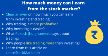 How much money can I earn from the stock market