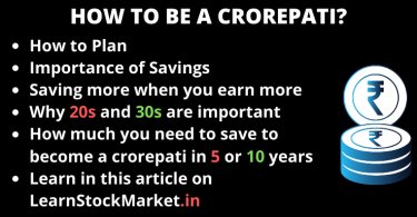 How to be a crorepati