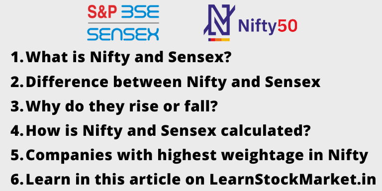 What is Nifty and Sensex